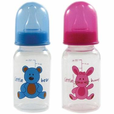 4-oz. BPA Free Baby Bottle (medium flow silicone nipple), Blue