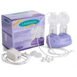 Lansinoh Double Electric Breast Pump, BPA Free, 1-Count Box