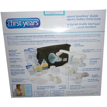 The First Years Natural Transitions Double Electric/Battery Breast Pump Complete Kit BPA FREE