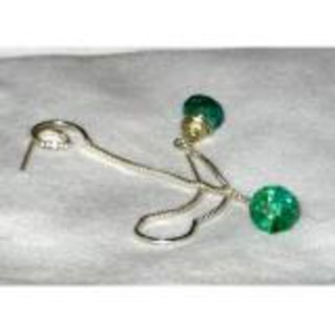 Ear Threader Earwires with Apatite Dangle