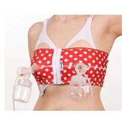 PumpEase Hands Free Pumping Support (PumpEase Small, T-Bird Red)
