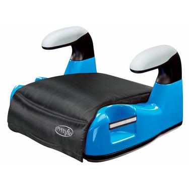 Evenflo Big Kid AMP No Back Booster Car Seat, Blue