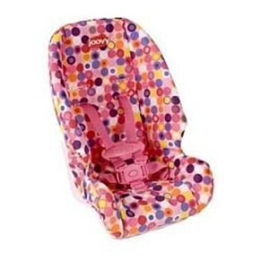 Doll or Stuffed Toy Booster Car Seat - Pink Dot