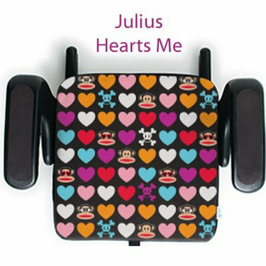 clekjacket Booster Seat Cover - Paul Frank Edition - Julius Hearts Me