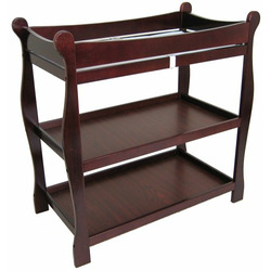 Badger Basket Cherry Sleigh Style Baby Changing Table