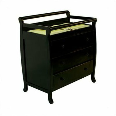 Dream On Me Liberty Collection 3 Drawer Changing Table, Black