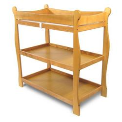 Badger Basket Honey Sleigh Style Baby Changing Table