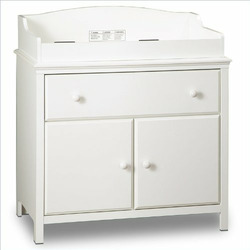 Transitional Style Pure White Finish Changing table