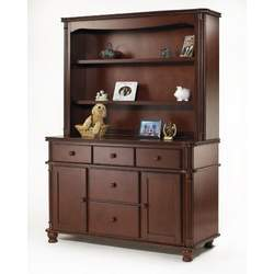 Sorelle Regal Combo Changer Hutch - Cherry