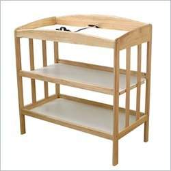 L.A. Baby 3 Shelf Hardwood Infant Changing Table in Golden Natural