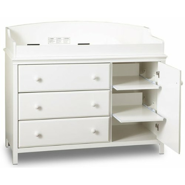 South Shore Cotton Candy 1 Drawer Baby Changing Table - SSI589