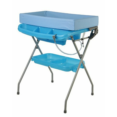 Dream On Me 2 In 1 Baby Bather and Changing Station Combo, Blue