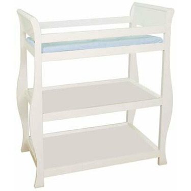 Classic Baby Changing Table in White By Delta