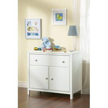 South Shore Furniture Cotton Candy Collection Changing Table, Pure White