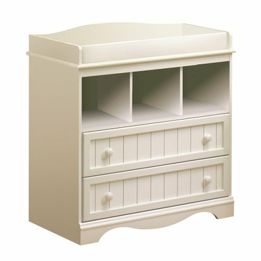 Pure White Country Style Changing Table