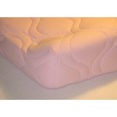 Quilted Contoured Changing Table Pad Cover - Pink - Made In USA
