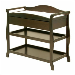 Aspen Changing Table with Drawer in Espresso