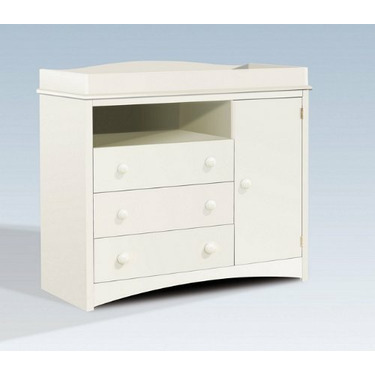 Contemporary Style Pure White Finish Changing table