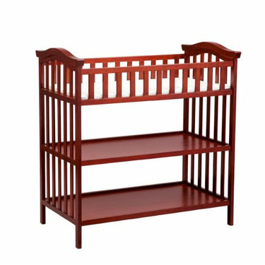 Delta Children's Products Serenity Changing Table - Brick Cherry