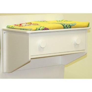 Berg's Oslo 1 Drawer Changer in White with White Knobs