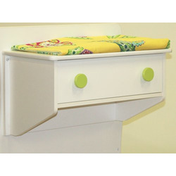 Berg Oslo Changing Table (Attaches to Either End of Crib) White/Lime