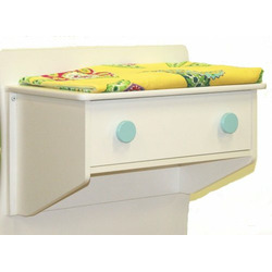 Berg Oslo Changing Table (Attaches to Either End of Crib) White/Aqua