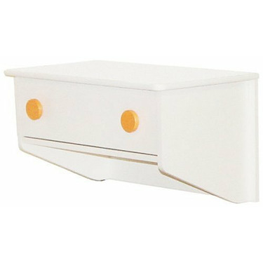 Berg Oslo Changing Table (Attaches to Either End of Crib) White/Orange