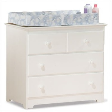 White Atlantic Furniture Windsor Wood Changing Table