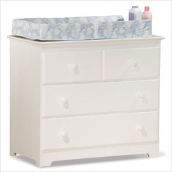White Atlantic Furniture Windsor Wood Changing Table