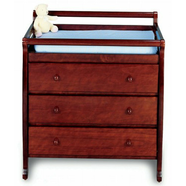 JCPenney Cherry Finish Changing Table - Cherry, Coffee, Ebony, White