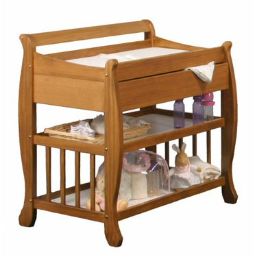 Stork Craft Lennox Changing Table with Drawer, Honey Pine