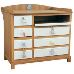 Kalo White Dresser and Changing Table Combination