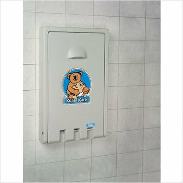 Vertical Baby Changing Station Color: Cream