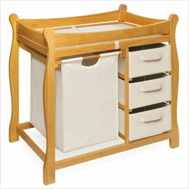 Badger Basket Honey Sleigh Style Changing Table