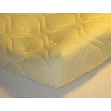 Quilted Contoured Changing Table Pad Cover - Yellow - Made In USA