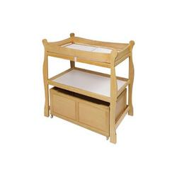 Badger Basket Natural Sleigh Style Changing Table w/ Lower Storage Bin