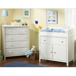 Pure White Compact Changing Table