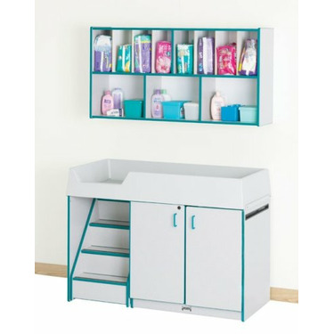 Rainbow Accents Diaper Depot with Stairs Color: Blue