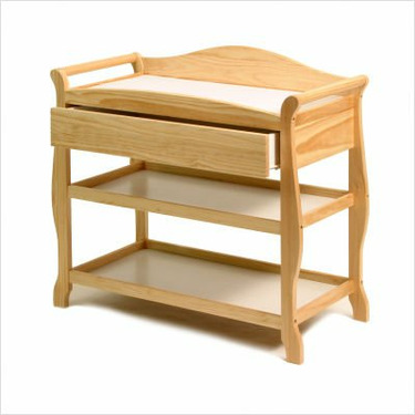 Aspen Changing Table with Drawer in Natural
