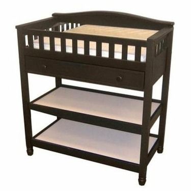Child Craft Watterson Wood Changing Table in Black