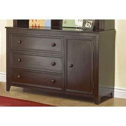 Sorelle City Lights Combination Wood Changing Table in Espresso Finish
