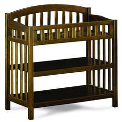 Atlantic Furniture 98804 Richmond Knock Down Changing Table in Antique Walnut