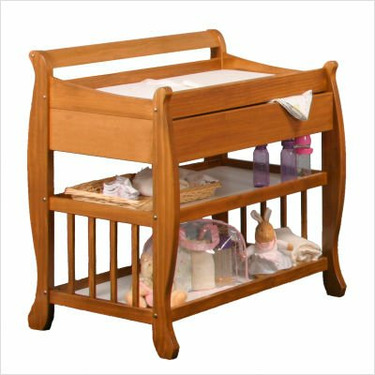 Lennox Changing Table with Drawer - Honey Pine