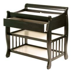 Stork Craft Lennox Changing Table with Drawer, Black