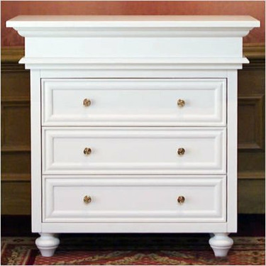 Casablanca Changing Chest in White Finish Door Knob Style: Gold Bee