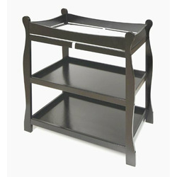 Black Sleigh Style Changing Table