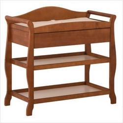 Aspen Changing Table with Drawer in Cognac Brown