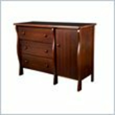 Delta Children's Products 3 Drawer Flat Top Wood Changing Table in Cherry