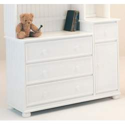 White Bead Board Panel Baby Changer - Raymond Furniture - BX20PA-W