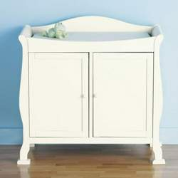 JCPenney Coffee Finish Christie 2-Door Changer - Antique White, Cherry, Coffee, Natural